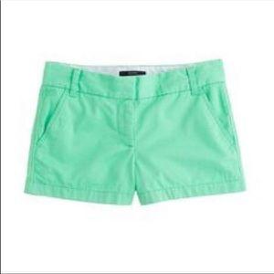 J. Crew Chino Shorts Teal Sz 00